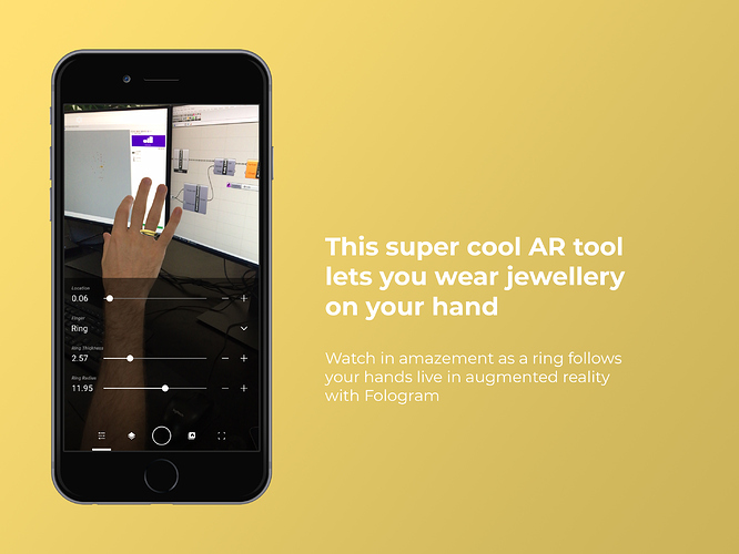 This super cool augmented reality tool lets you wear jewellery on your hand