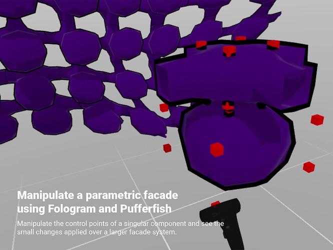 Manipulate a parametric facade using Fologram and Pufferfish