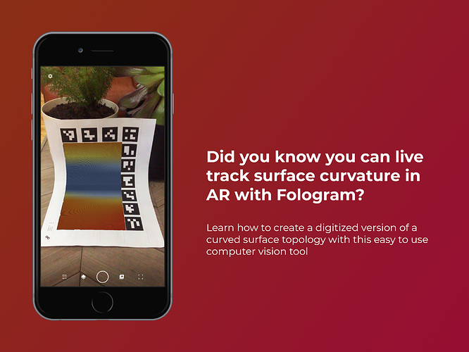 Did you know you can live track surface curvature in augmented reality with Fologram