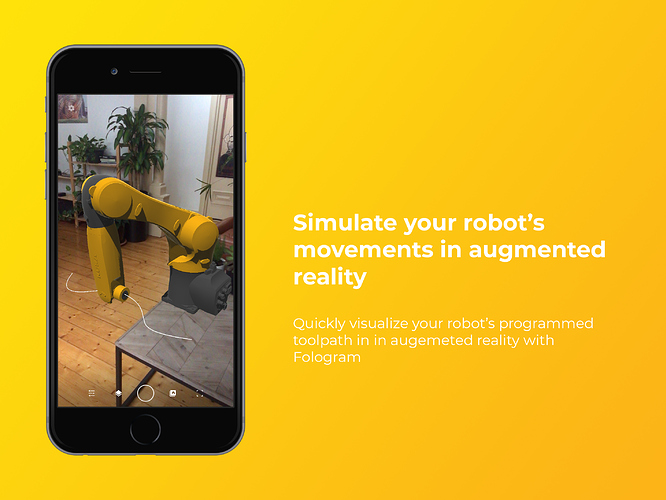 This example simulates your robot's movements in with Fologram