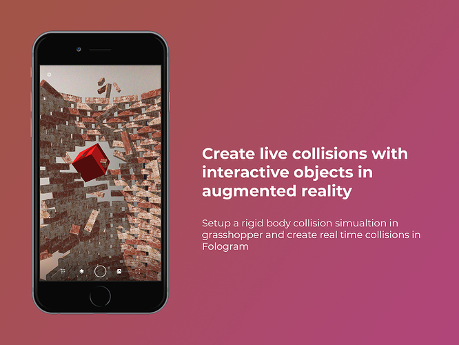 Create live collisions with interactive objects in augmented reality