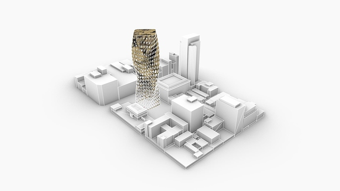 The parametric tower in its urban context