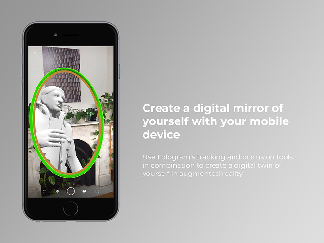 This fun tool lets you create a digital mirror of yourself with your mobile device